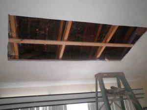 Fire Damage Ceiling Restoration In Progress